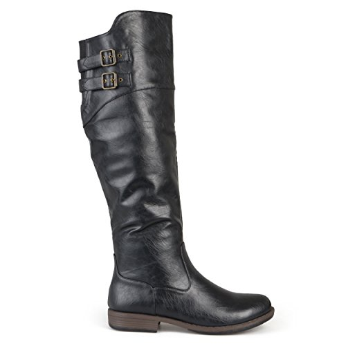 - Brinley Co Women's Vega Knee High Boot,Black,9 Extra Wide/Wide Shaft US