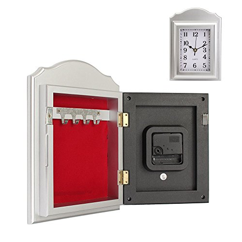 NEW ABS+Electronic Component Wall Clock Secret Hidden Security Safe Key Lock Cash Money Jewellery Locker Durable