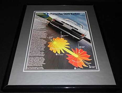 1979 Porsche 924 Turbo Framed 11x14 ORIGINAL Vintage Advertisement