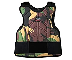 Maddog has brought you a new line of padded chest protectors! All the fun without the pain of paintball or airsoft. Features: * Lightweight body armor provides front and back protection * Elastic shoulder straps and adjustable side strap to f...