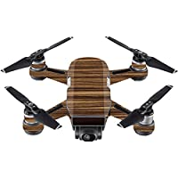 Skin For DJI Spark Mini Drone – Dark Zebra Wood | MightySkins Protective, Durable, and Unique Vinyl Decal wrap cover | Easy To Apply, Remove, and Change Styles | Made in the USA
