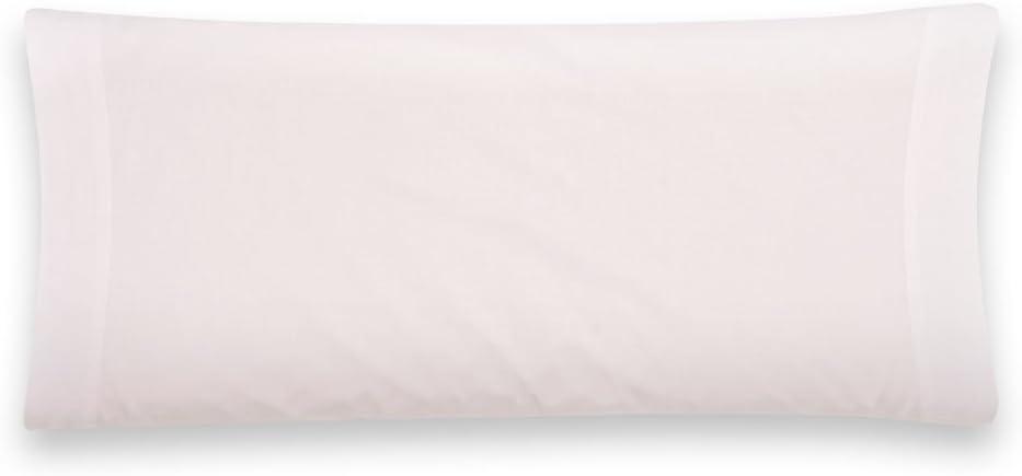 Sancarlos - Funda de almohada para cama, 100% Algodón percal, Color blanco, Cama de 90 cm