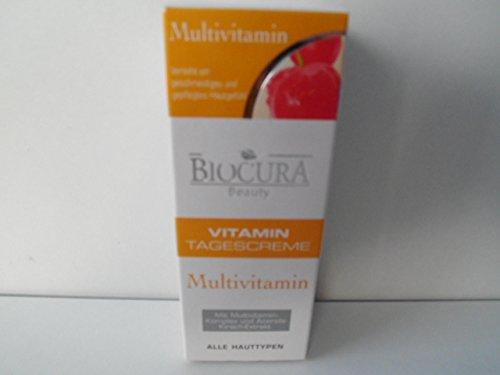 BIOCURA Beauty -VItamin Tagescreme mit MULTIVITAM.Komplex und Acerola-Kirsch-Extakt 50 ml