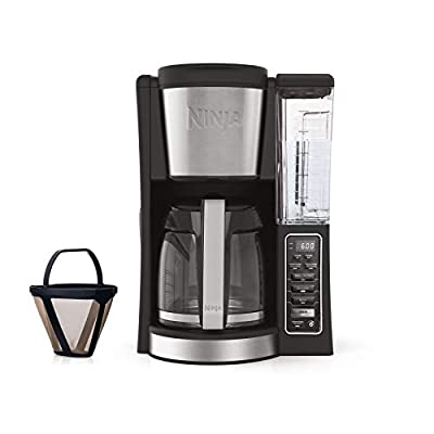 Ninja 12-Cup Programmable Coffee Maker with Classic and Rich Brews, 60 oz. Water Reservoir, and Thermal Flavor Extraction (CE201), Black/Stainless Steel from Ninja
