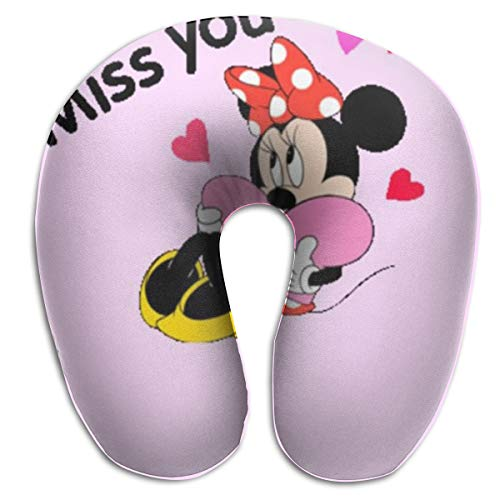 (WEIBING Miss You Minnie Mouse U-Shaped Travel Pillow Good Support for Neck and Back - Perfect for Trips,Office and School Napping)