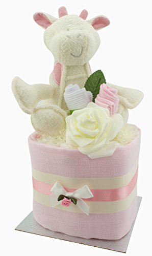 FAST /& FREE UK Delivery! Cute Elephant Themed 2 Tier New Baby Nappy Cake Baby Shower Gift
