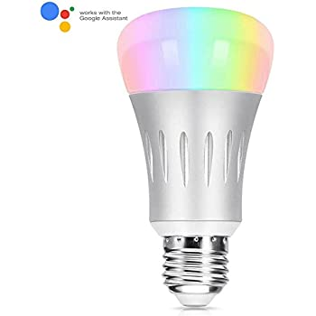 smart led light bulb compatible with alexa color brightness changing 7 watts 70watts. Black Bedroom Furniture Sets. Home Design Ideas