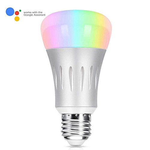 wi fi smart led light bulb tastech upgraded version dimmable multicolored party lights bulb. Black Bedroom Furniture Sets. Home Design Ideas