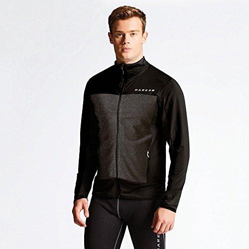 Dare 2b Men's Correlate Stretch Midlayer Sweatshirts Black/Charcoal Grey Marl