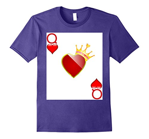 [Mens Halloween Costume TShirt Couple Great King Queen Hearts 2XL Purple] (King Of Hearts Halloween Costume)