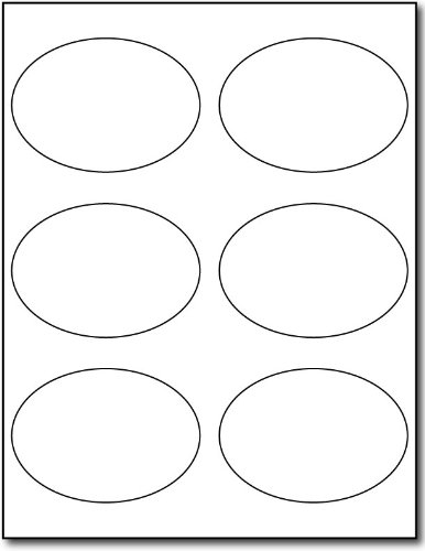 Photo Gloss Oval Labels, 6-up, 60 labels ()