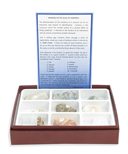 - American Educational 10 Piece Scale of Hardness Collection with Diamond