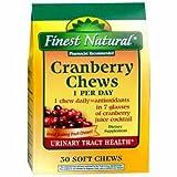 Finest Natural Cranberry Chews 30 ea For Sale