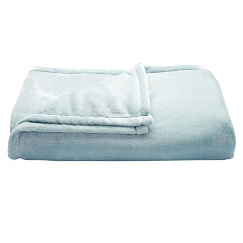 The Big One Super Soft Plush Throw Blue (Throw Big The Blanket One)