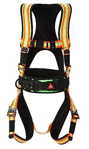 Super Anchor Safety 6101-HX Deluxe Full Body Harness, X-Large, Hi-Viz