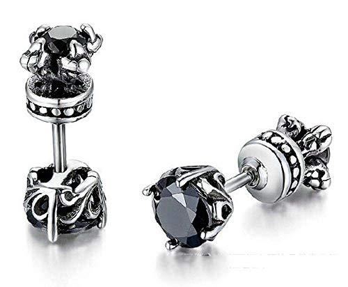 Ludage Earrings, Double-Sided, Diamond-Faced, Titanium-Steel cast Zircon Earring Earrings, Male and Female General 6mm5mm