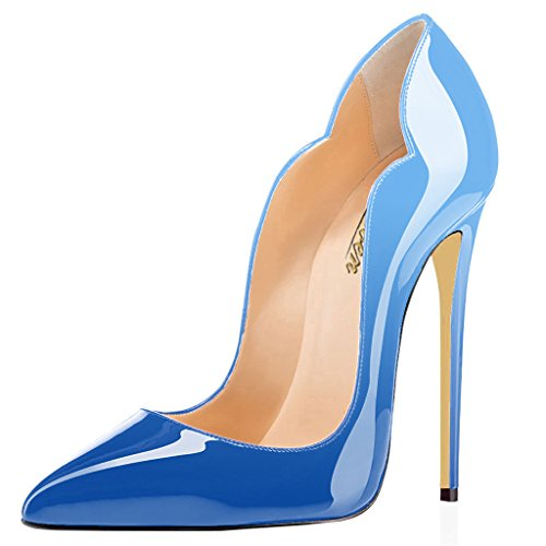 150ab3681740 Modemoven Women s Light Blue Sexy Point Toe High Heels