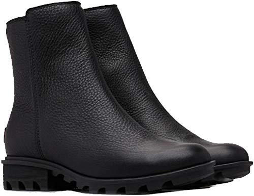 SOREL Women's Phoenix¿ Zip Black Full Grain Leather 8 B US B (M) -