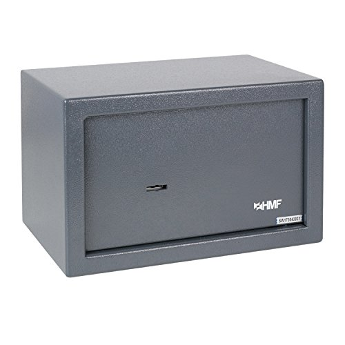 HMF 49200-11 Caja Fuerte Cerradura De Doble Paletón, 31 x 20 x 20 cm, antracita: Amazon.es: Bricolaje y herramientas