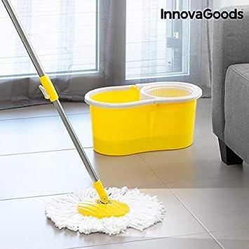 InnovaGoods Fregona Giratoria de Doble Acción con Cubo, Amarillo, Unitalla: Amazon.es: Hogar