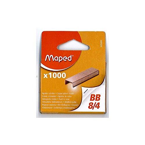 Maped 3252059Agrafes BB 8/4, cuivré, petit paquet 325205 9