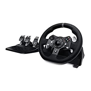 Logitech G920 Driving Force Racing Wheel and Floor Pedals, Real Force Feedback, Stainless Steel Paddle Shifters, Leather…