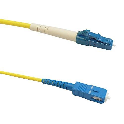 (50ft (15m) Singlemode Simplex LC/SC 9 micron Fiber Cable - 3mm Jacket )