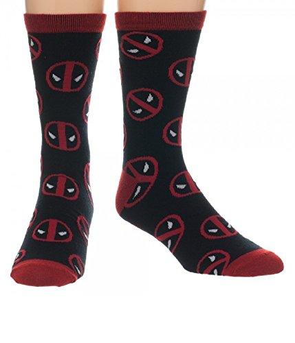 Deadpool Toss Logo All Over Print Crew Socks