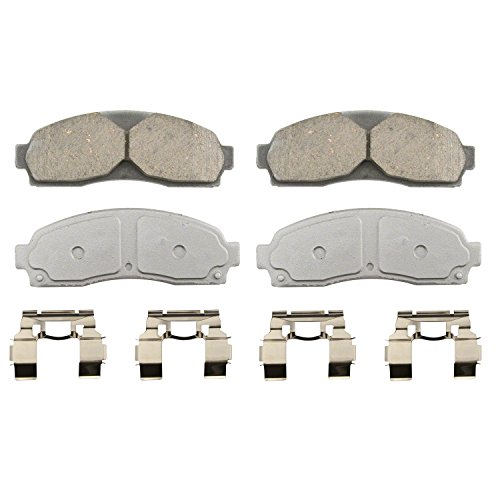 Wagner ThermoQuiet QC833 Ceramic Disc Pad Set With Installation Hardware, Front (B3000 Brake Pad)