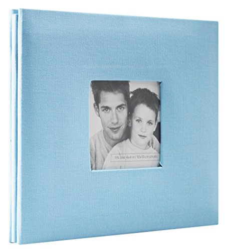 MBI Paper Fashion Fabric Post Bound Album 8-inch x 8-inch, Sky Blue Sky Blue