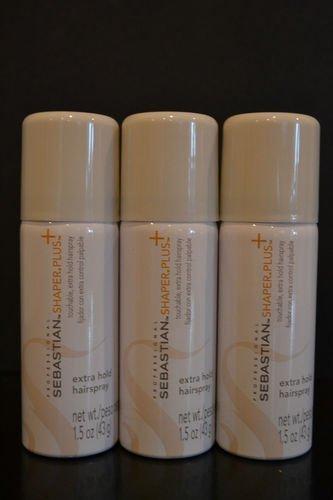 Sebastian Shaper Plus Hairspray, 1.5 oz., 3 Count (Hair Shaper)