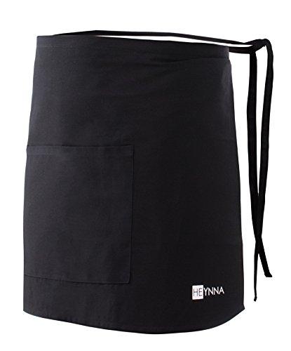 HEYNNA® Voorbinder kookschort 100% katoen belastbaar & eenvoudig te reinigen schort – perfect ook als kelnerschort en…