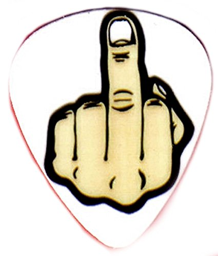 unique-and-custom-76-mm-thick-medium-gauge-hard-plastic-round-tip-guitar-pick-with-middle-finger-fli