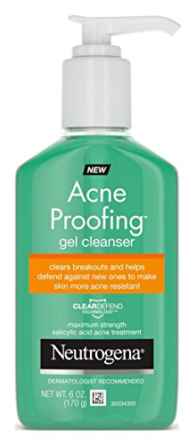 Neutrogena Acne Proofing Gel Cleanser 6 Ounce Pump (177ml) (3 Pack)
