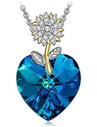 Women's Swarovski Crystals Jewelry with Gift Box Soft Cloth