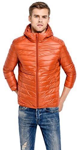 Naranja Invierno de Sawadikaa Chaqueta Abajo Ligero Hombres de Rompevientos Chaquetas pluma 4wwq7vx