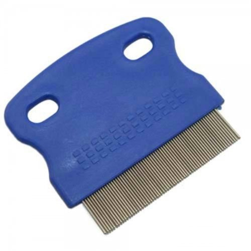 Nit Comb, Lice Detection Comb, Dog Comb, Pet Grooming Comb, Stainless-Steel, blue Saniversum UG 3432432