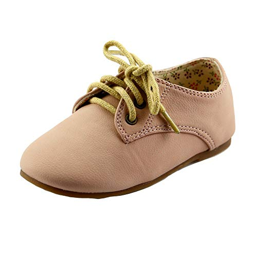 - Girl's Glassic Nude Matte Oxford Shoe Color: Nude Size: 10, FBA1431126B-10
