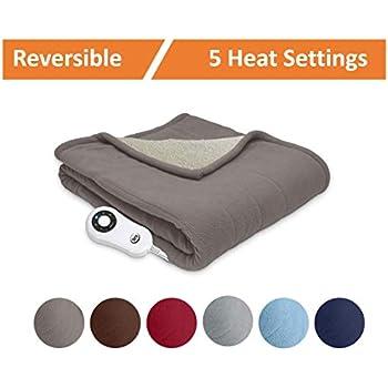 Amazon Com Sunbeam Heated Wrap Soft Fleece 4 Heat