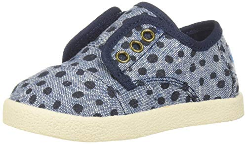 eaker, Cornflower slub Chambray Torn dots, 4 Medium US Toddler ()