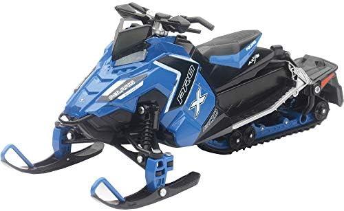 NewRay 1/18 スケールモデル Polaris Snowmobile Pro-X 800 ブルー [並行輸入品]