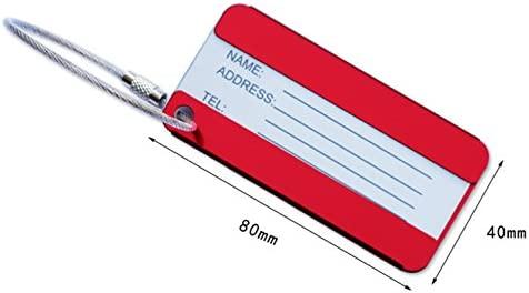 Etiquetas de equipaje de viaje de metal de aluminio Titular ...