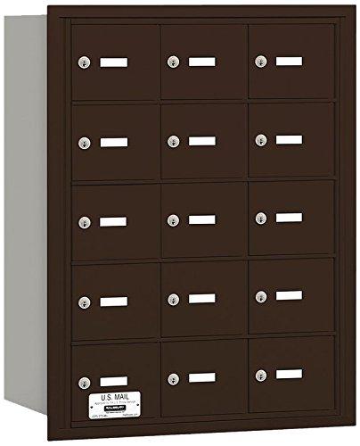 Salsbury Industries 3615ZRU 4B Plus Horizontal Mailbox, 15 A Doors, Rear Loading, USPS Access, Bronze