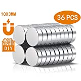 A AULIFE Refrigerator Magnets,36PCS Premium Brushed Nickel Fridge Magnets,Round Magnets,Office Magnets