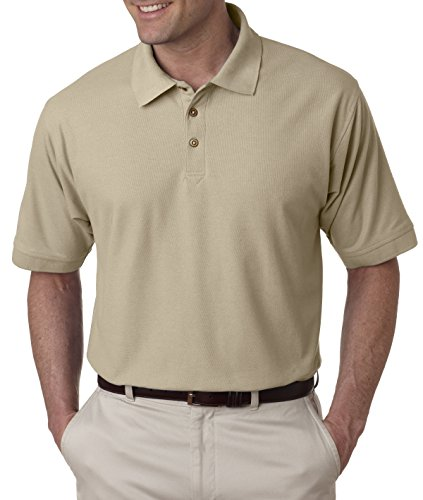 UltraClub mens Whisper Pique Polo(8540)-PUTTY-S