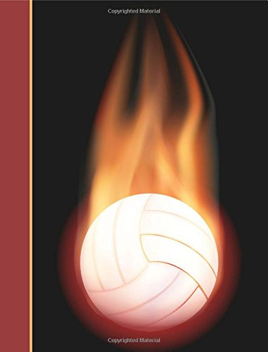 Composition Notebook: Volleyball Flame College Ruled Lined Pages Book (7.44 x ()