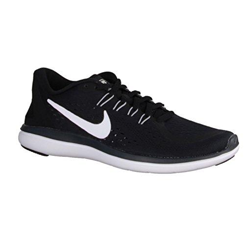 NIKE Women's Flex 2017 RN Running Shoe, Black/White/Anthracite/Wolf Grey, 12 B(M) by NIKE