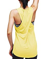 Mippo Womens Cross Back Yoga Shirt Activewear Workout Clothes Racerback Tank Top