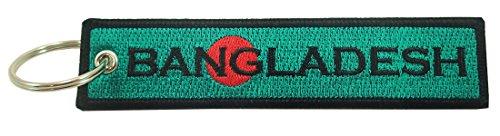 Bangladesh Flag Key Chain, 100% Embroidered