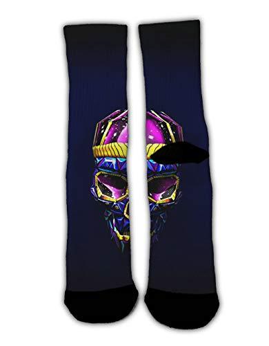 (YEAHSPACE Unisex Sugar Skull Art Bright Cozy Warm Winter Socks Funky Fun Colorful Dress Socks, Assorted Patterns Non-Slip Stockings Slippers Holiday Socks)